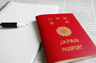 passport and note