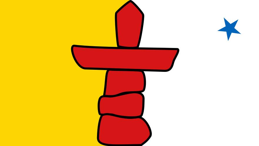 ヌナブト準州の準州旗