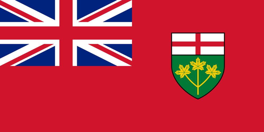 オンタリオ州の州旗