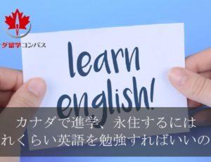 カナダで進学、永住に必要な英語力について