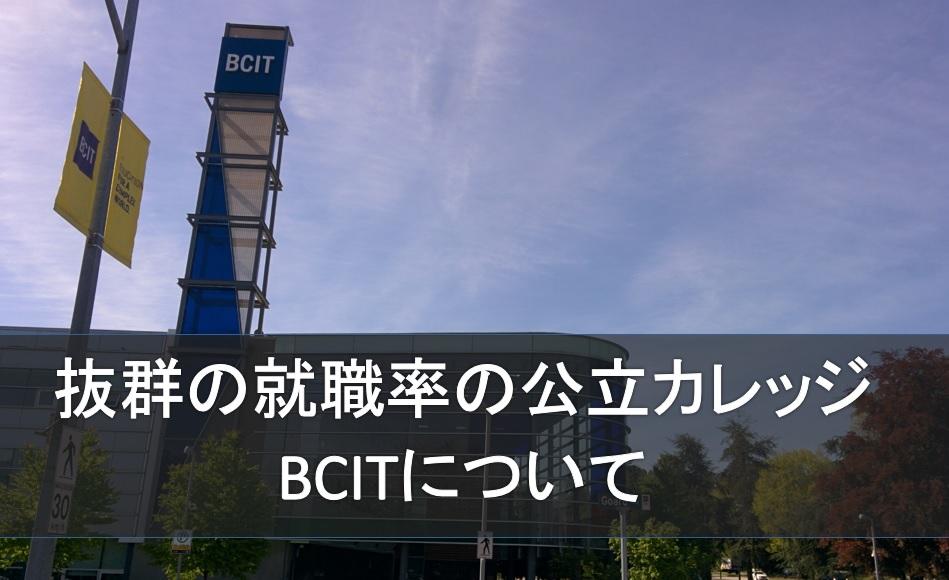 抜群の就職率の公立カレッジBCITを徹底紹介します!