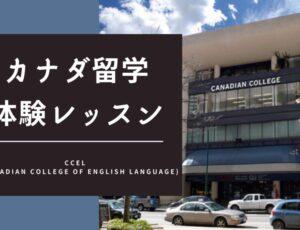 【カナダ留学体験レッスン】CCEL/Canadian College of English Language(シーシーイーエル)